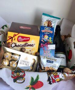 cesta de natal merry christmas aberta