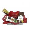 Cesta de chocolates cacau show e pelúcia