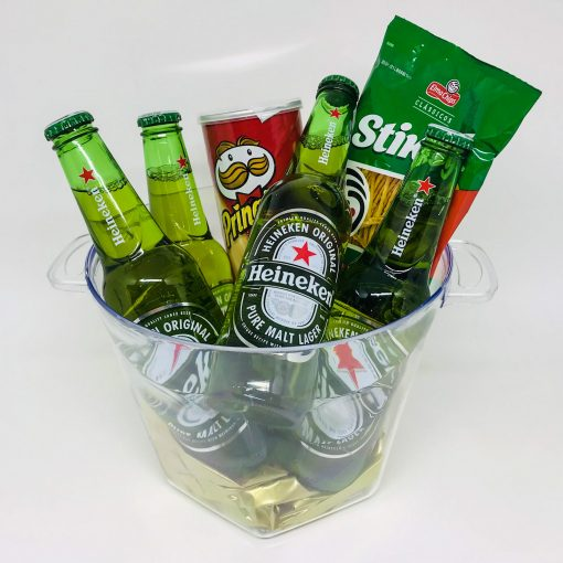 Balde de Cerveja Heineken para uma Happy Hour